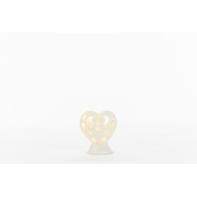 Bomboniera Cuore in Led in porcellana
