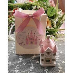 Bomboniera Castello led rosa
