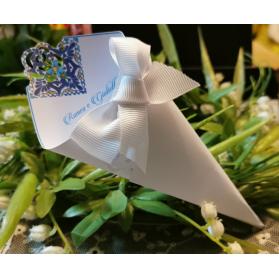 Cono Matrimonio per riso decoro ceramica Siciliana