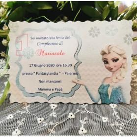 Invito 1 Anno Frozen