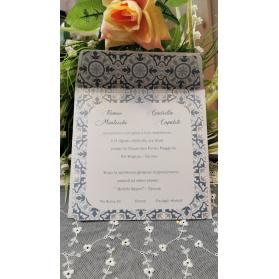 Invito Matrimonio Ceramica Vietri azzurro e tortora