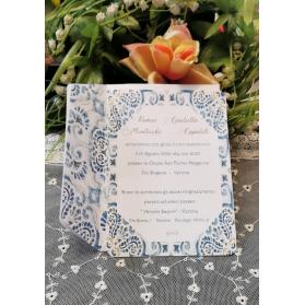 Invito Matrimonio Ceramica Vietri azzurro