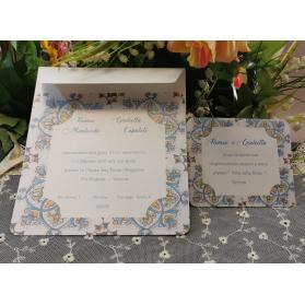 Invito Matrimonio decoro ceramica