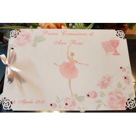 Guest book o Libro delle Dediche decoro Ballerina