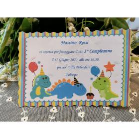 invito Compleanno Dinosauri